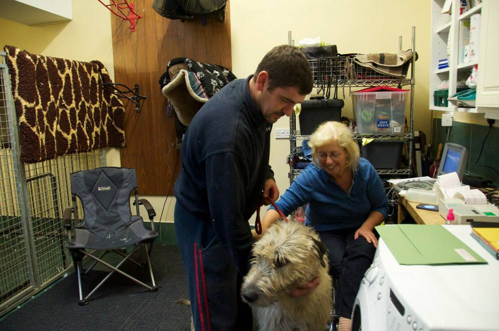 Serena heart testing a dog.jpg