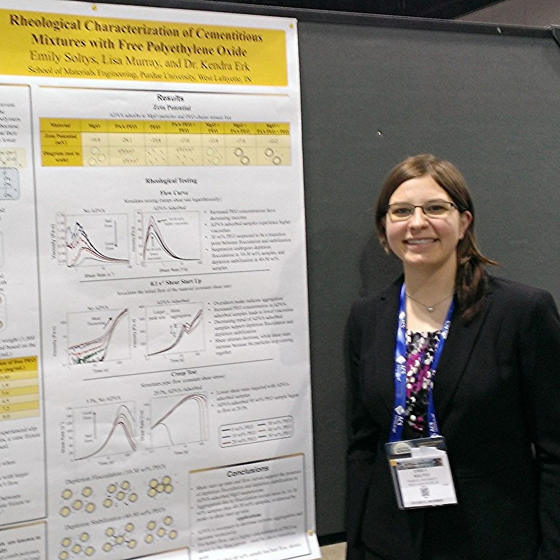 Emily presenting her research project at the ACS Spring 2015 meeting in Denver, Colorado.