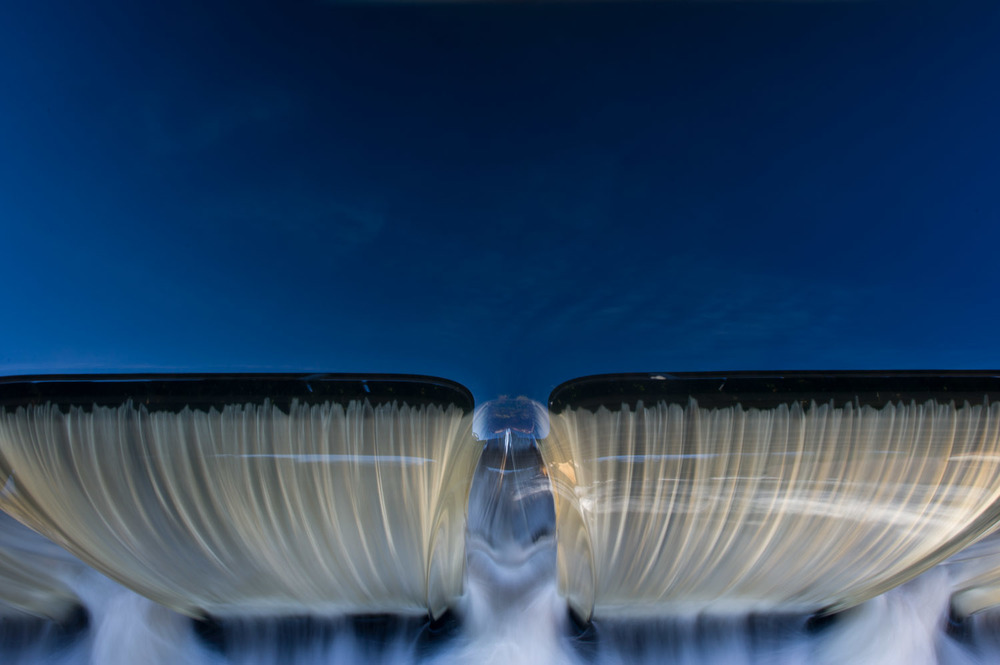 A long exposure of the dam at Batsto Lake.