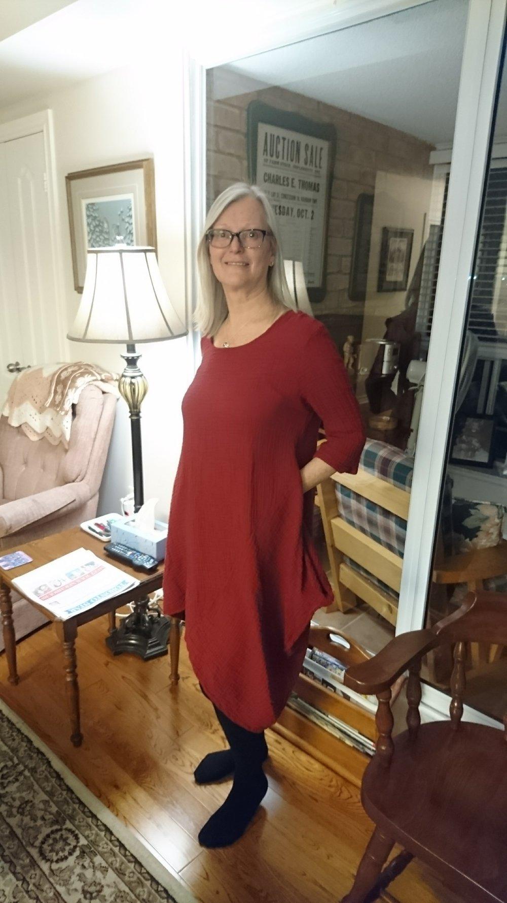 Sproule's Emporium Lynn Casa Relief Dress Nagoon.JPG