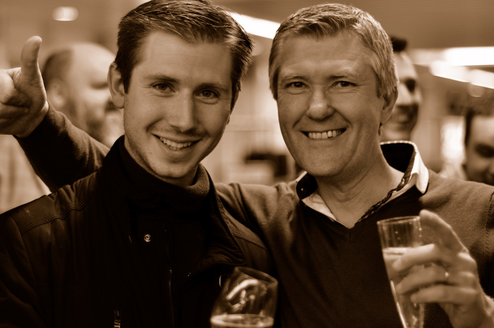 Aristide Spies et William Wouters à son arrivée à Zaventem le 2 Avril 2013.