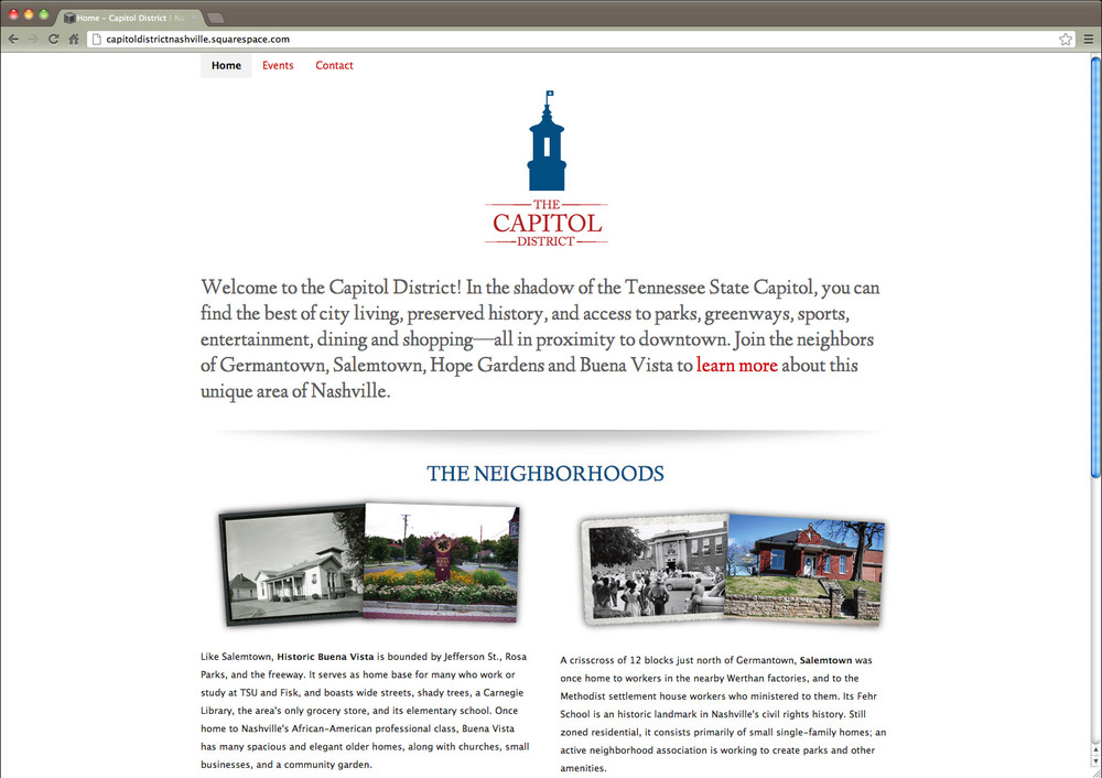 Website for The Capitol Dsitrict