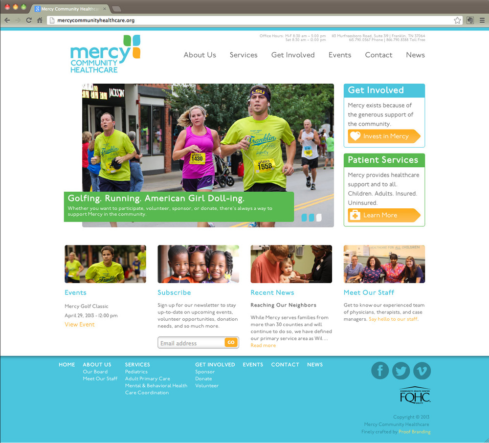 Mercy Community Healthcare homepage