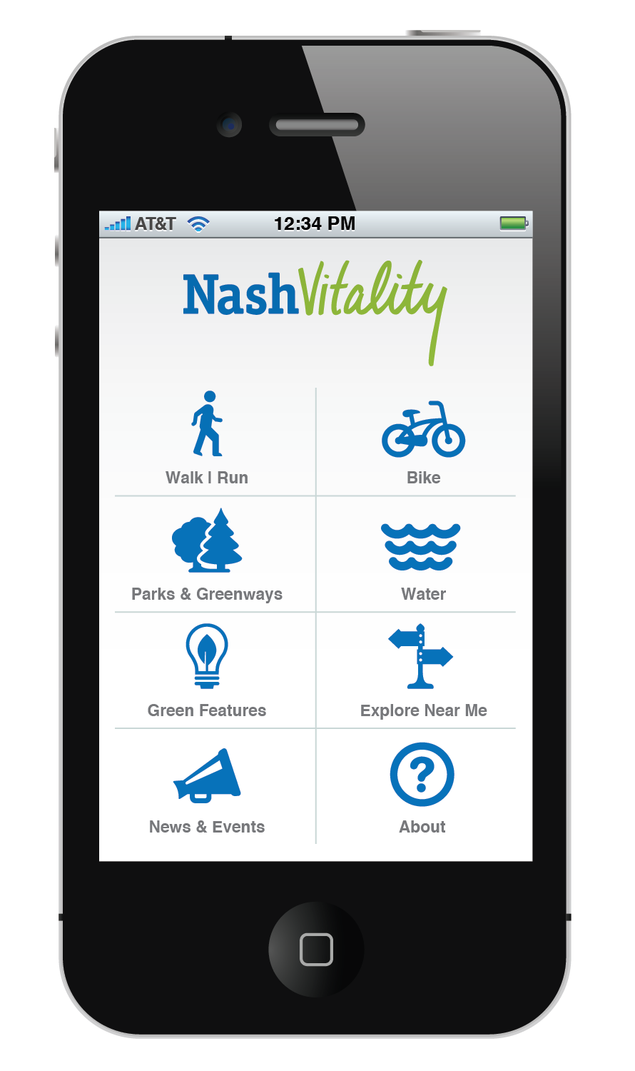Nashvitality App Rob Williams Design