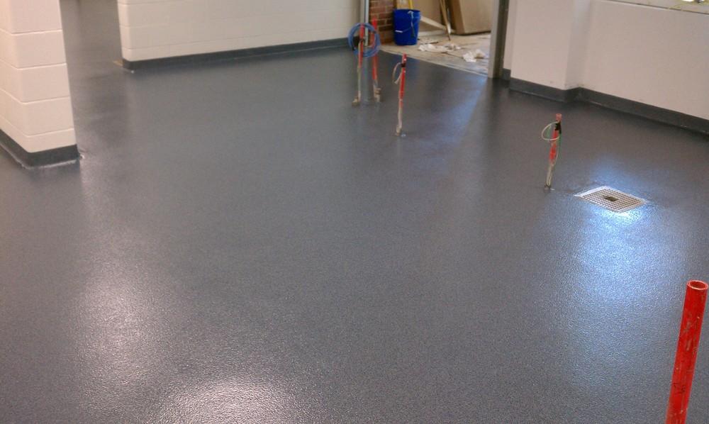 Decorative Quartz Epoxy Flooring Installed At Mariemont