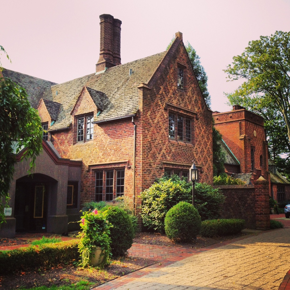 Exterior of Aldie Mansion in Bucks County, PA
