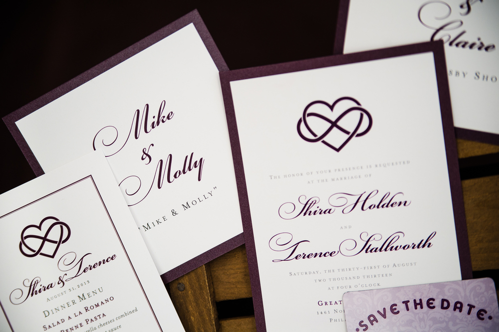 Wedding invitation suite designed by Trilogy Event Design Creative Director Francesca Staffieri. Photo by Nina Price Photography