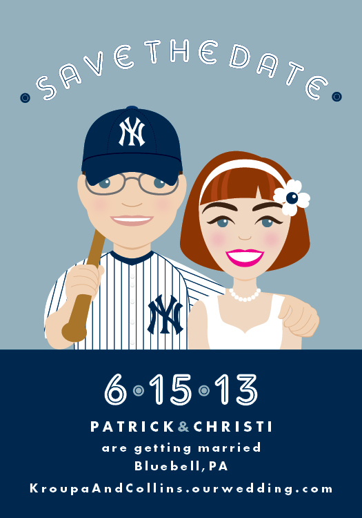 Francesca's unique custom-designed save the dates feature digital likenesses of our couples