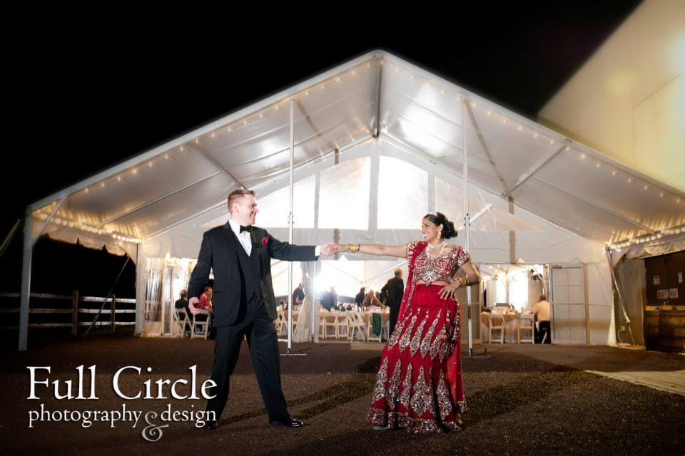 Ranjana & Tim's Wedding, Sand Castle Winery. Photo by Full Circle Photography.