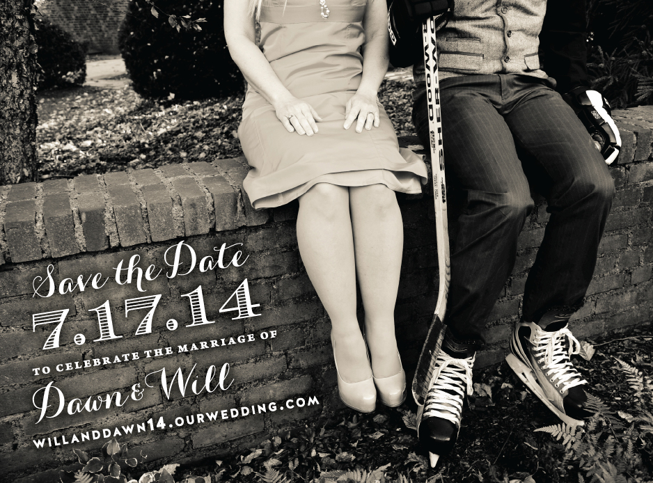 You provide the photo, and let Francesca create a custom save the date for you!