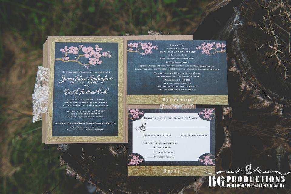 Pocketful wedding invitation suite designed by Francesca. Photo by BG Productions