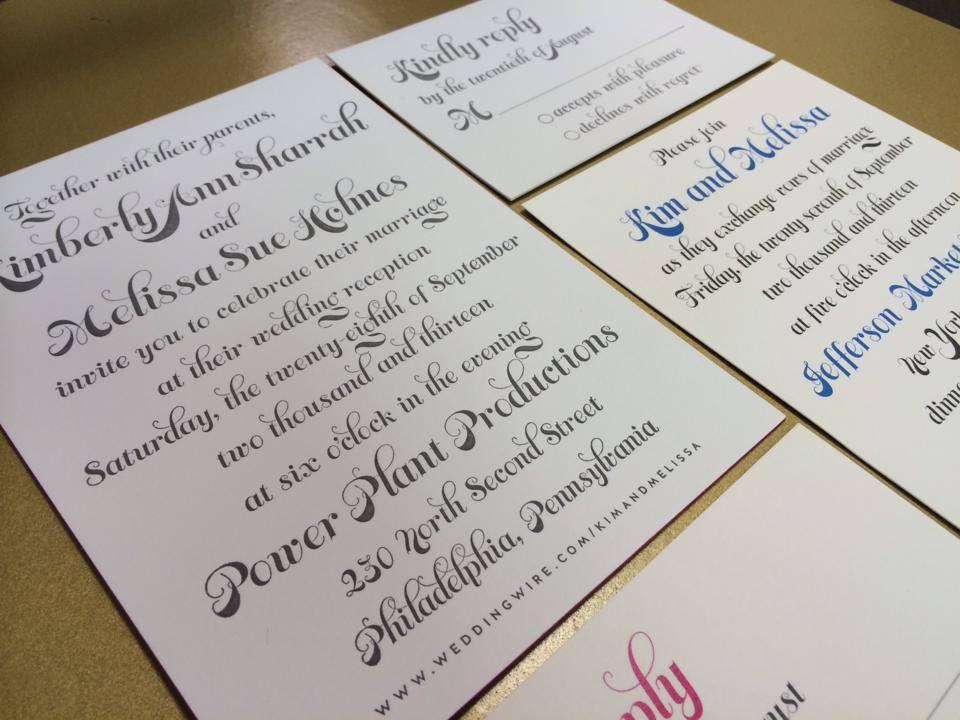 Letterpress and digital invitation suite designed by Francesca @ Trilogy Event Design.