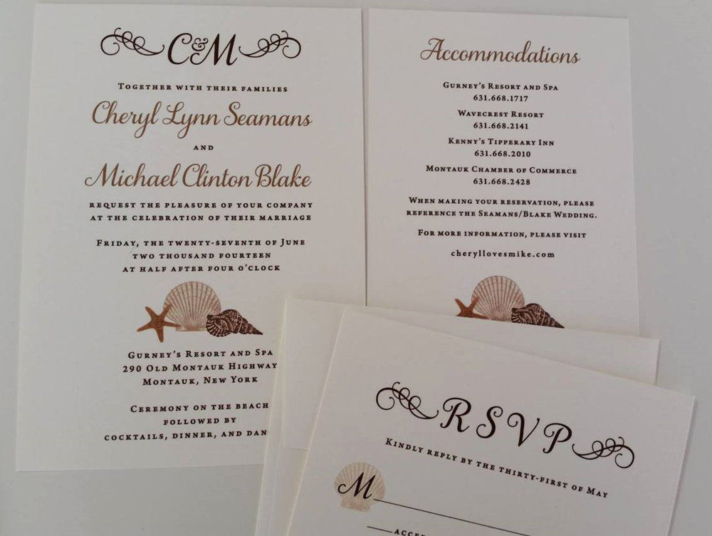 Beach-themed invitation suite designed by Francesca @ Trilogy Event Design