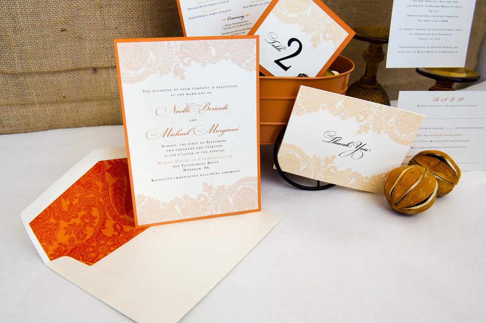 Wedding stationery designed by Francesca @ Trilogy Event Design. Photo by Nina Price Photography.