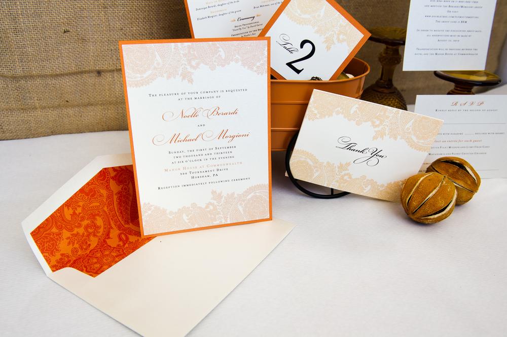 Wedding stationery designed by Francesca @ Trilogy Event Design. Photo by Nina Price Photography.