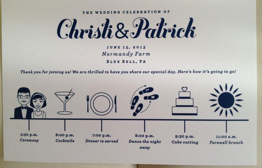 Timeline card designed by Francesca @ Trilogy Event Design