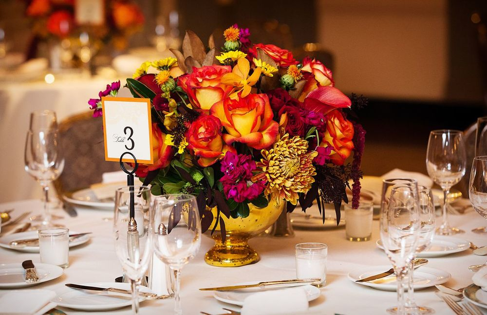 Table Number designed by Francesca @ Trilogy Event Design. Photo by Unique Concepts Studio