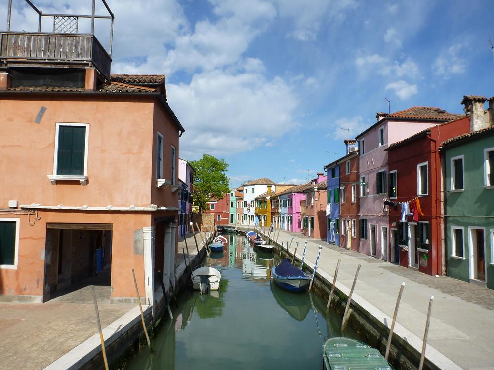Burano Island in Venice, Italy