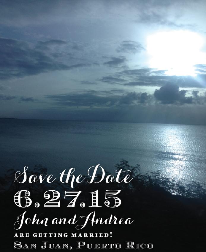 Save the Date designed by Francesca @ Trilogy Event Design