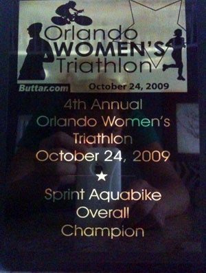 2009 Sprint Aquabike Overall Champion