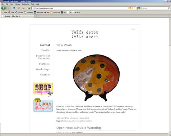 Julie Guyot Web Site Redesign