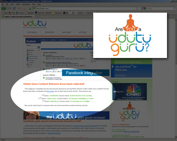 Screenshot of the Udutu website featuring my course!
