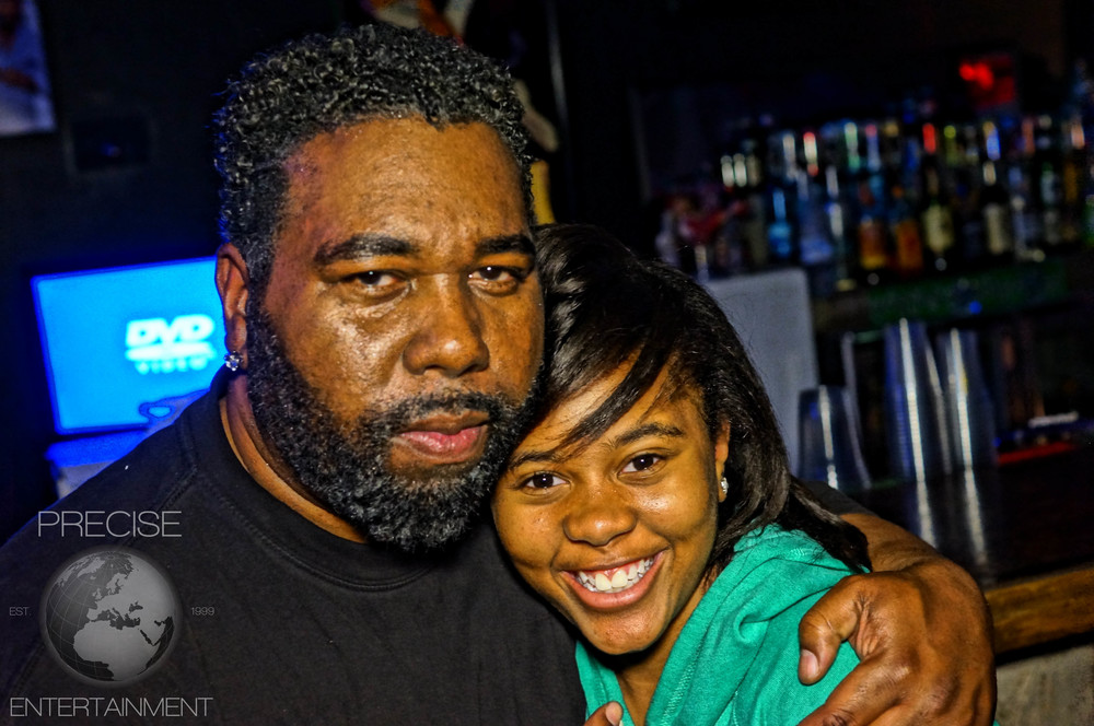 Multi Platinum Recording Producer Willie Woods with daughter.
