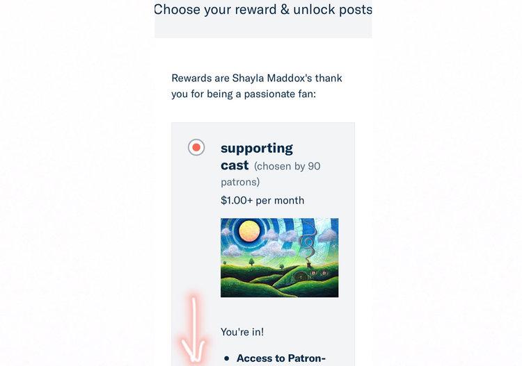Patreon Sign Up — SHAYLA MADDOX