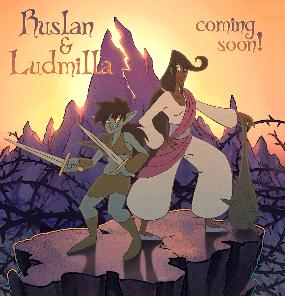 (the lovely adventuring ladies, Ruslan and Ludmilla)