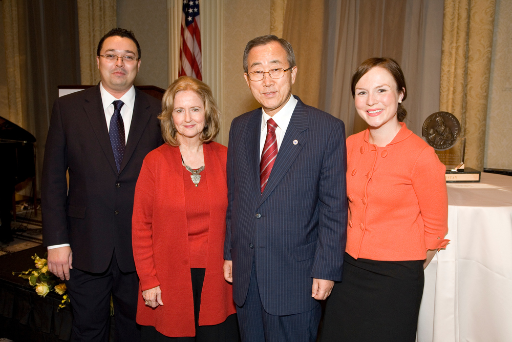 With UN Secretary General Ban Ki-moon