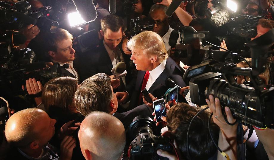 Donald Trump Media Scrum