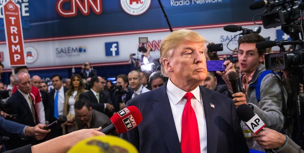 Donald Trump Facing the Press