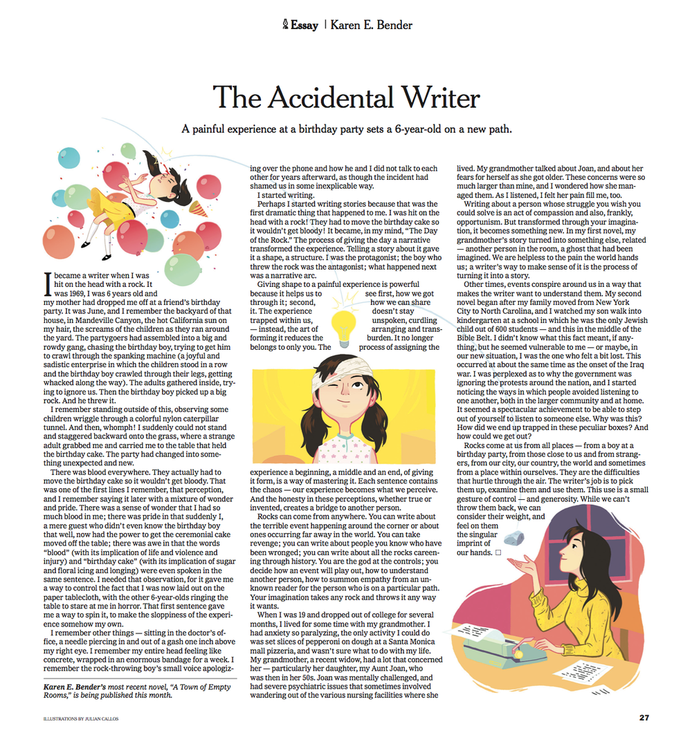 The Accidental Writer spot illustrations