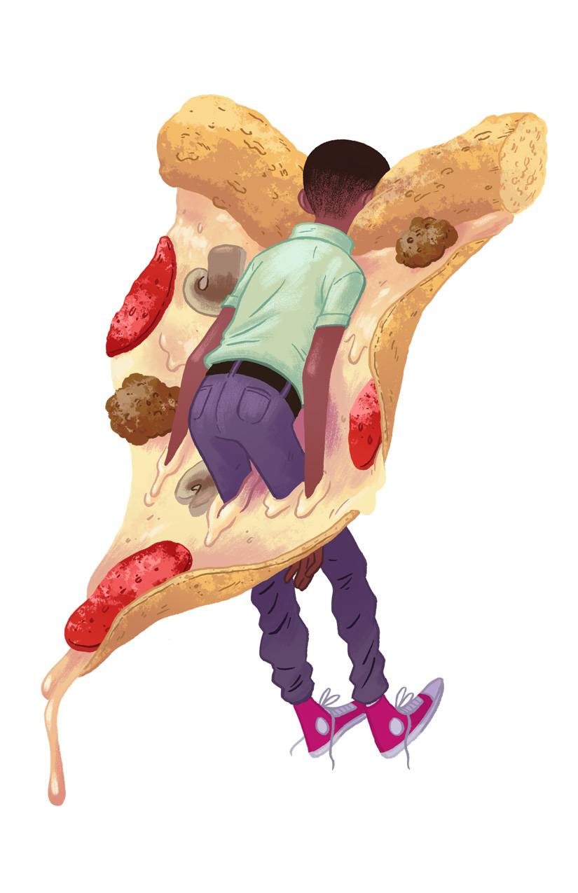 Youth Stuck in Pizza