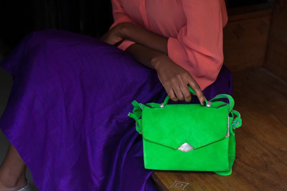 Suede 'TKO' handbag