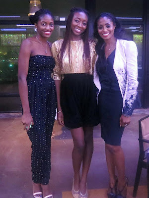 With the hottest babes in town,  Zara of Jewel by Lisa and Bridget of Bridget Awosika.  My outfit is vintage and was altered (the shorts used to be a skirt) an hour before my birthday dinner. I was determined not to wear something I didn't already own!