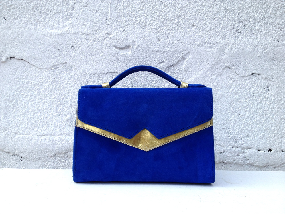Colbalt blue suede and gold TKO A