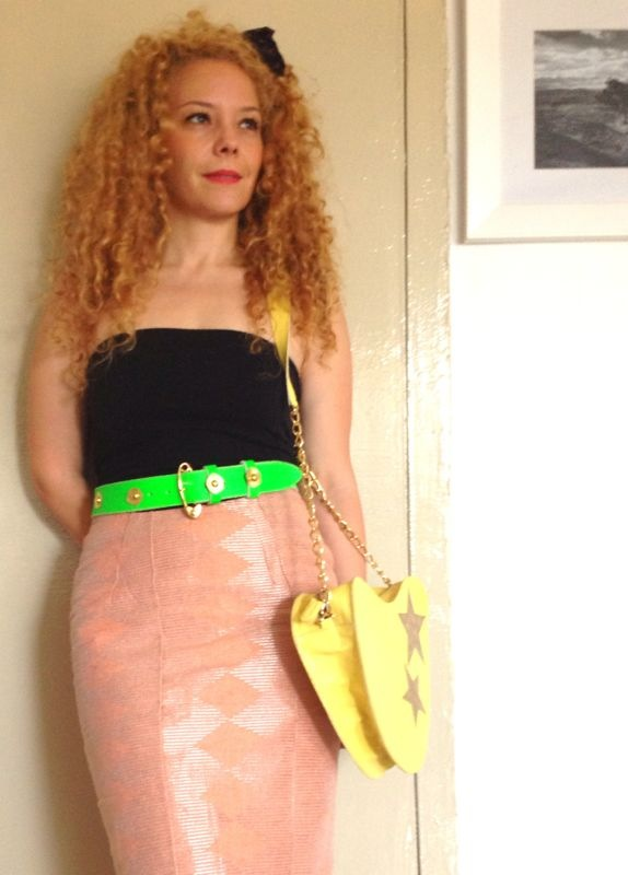Our new Flutter belt in Neon Green and Love Me bag in yellow lizard print leather
