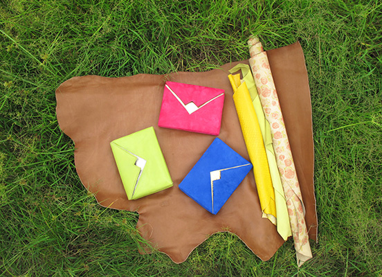 Box Clutches in hot pink, our fav royal blue and lime green.