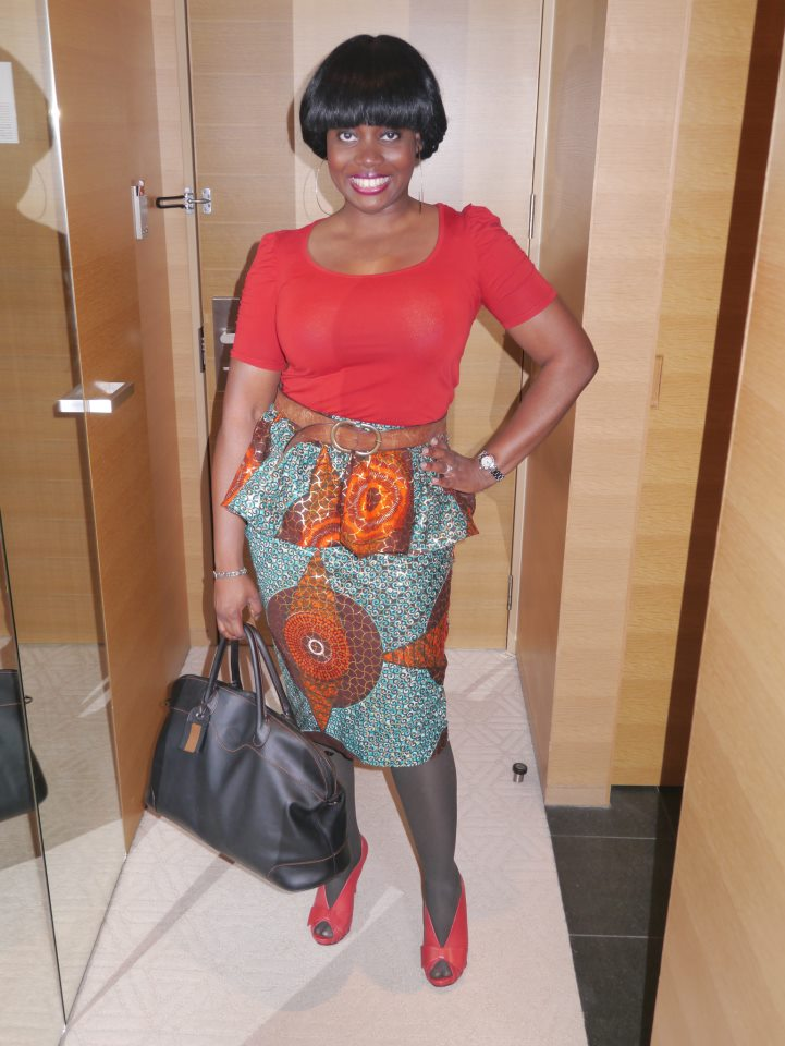 Flirty and cute in vintage inspired ankara print skirt