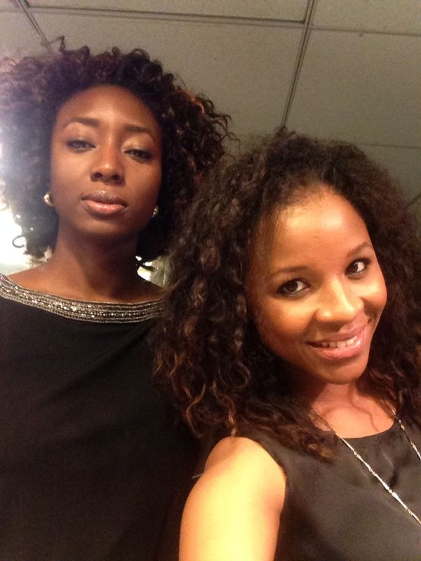 This cutie and media mogul, Aisha Augie Kuta, made it all the way to NYC to take a bathroom selfie with me :)