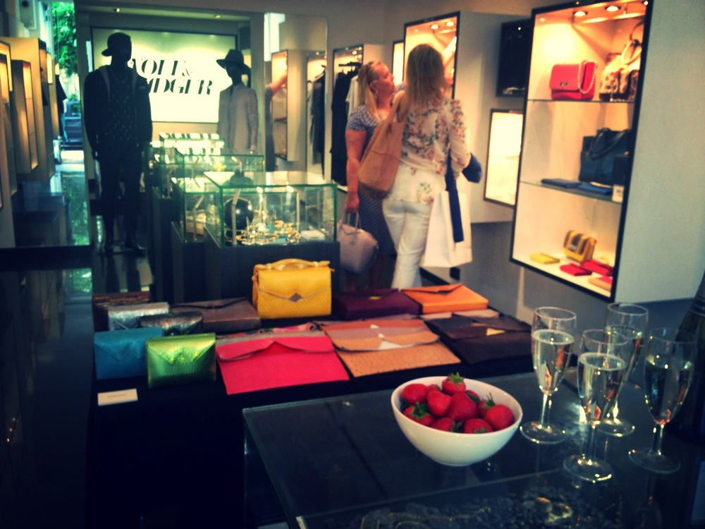 July 2014, Back in London, Wolf and Bagder Trunk Show at the Notting Hill branch