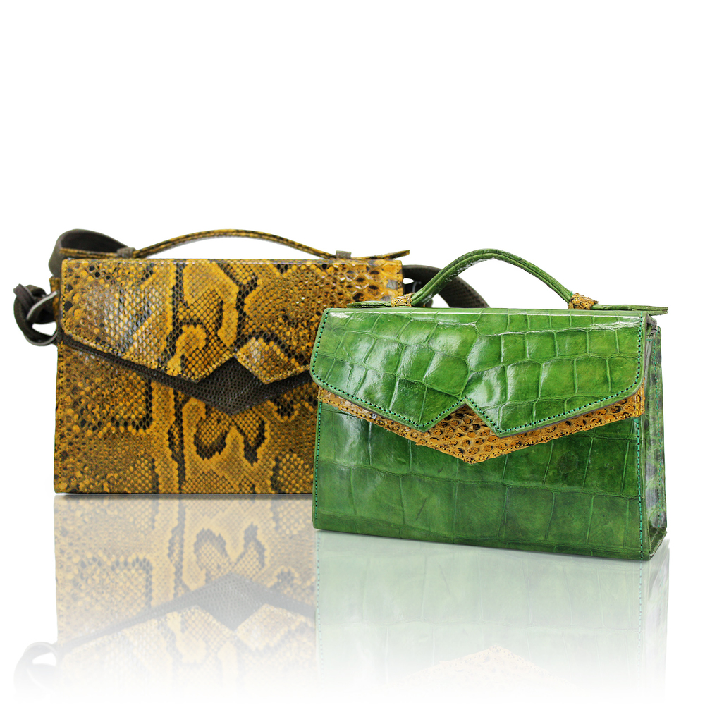 Yellow Python TKO Classic, Green Crocodile TKO Mini