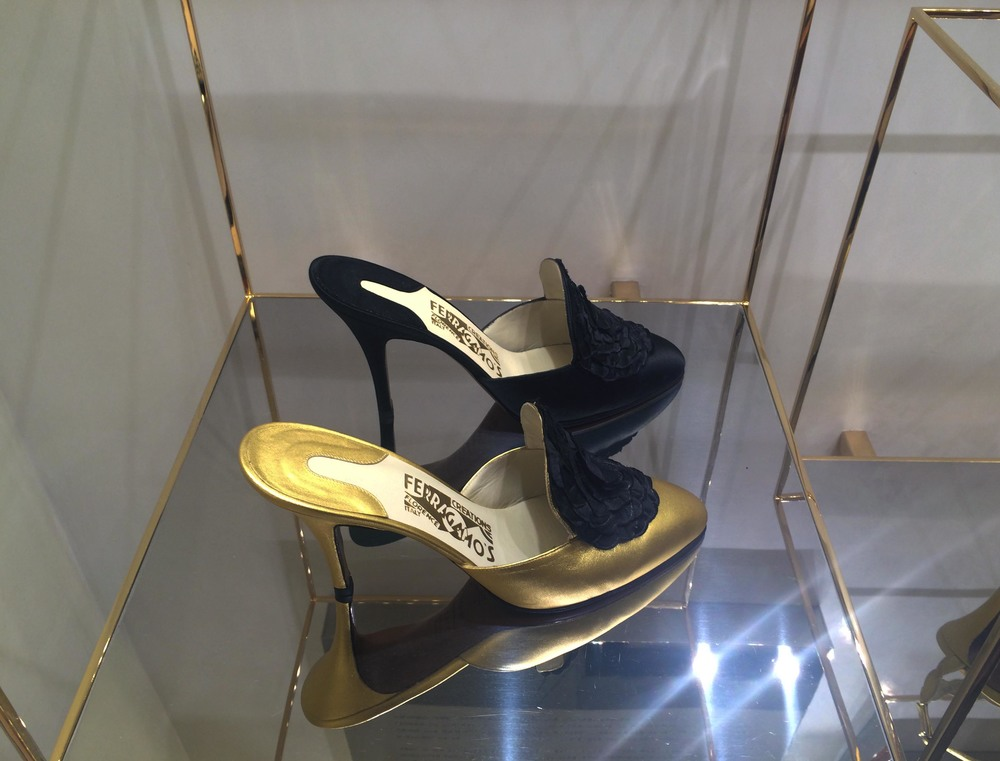 I don't argue with fate. When I walked past Ferragamo's flagship store in Milan and saw they were showcasing the special edition, Limited Edition, numbered, handcrafted, archival shoes, I understood that something spiritual was occurring around me, followed the voice and walked into the store. Can you guess which pair I got?!