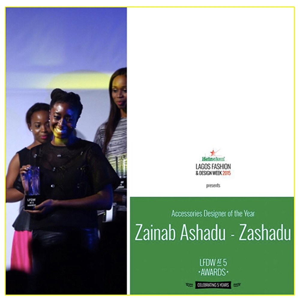 Receiving the award with joy :)