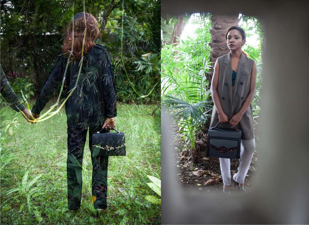 TKO Madam and The Justice in black Ostrich and leopard print goat skin insert