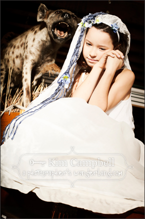 El Corazon Photography by Kim Campbell - girl with stuffed hyena.