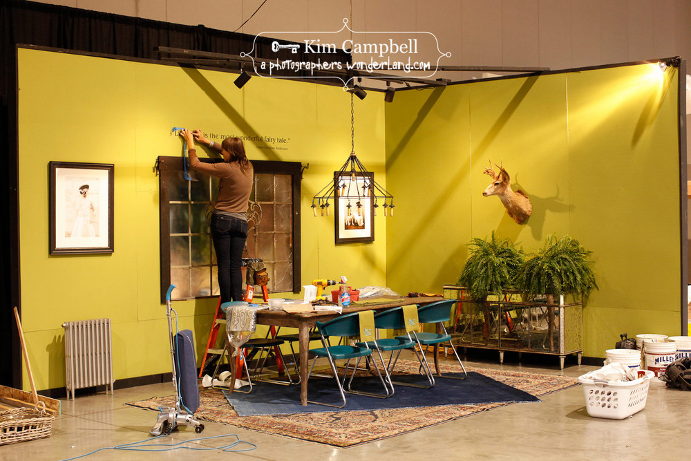 Installation at Serving up Style - Home & Garden show at Expo Center for said interior design.