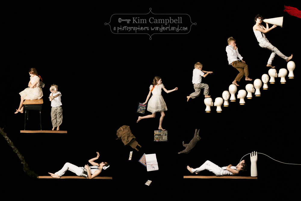 The Childhood Gravity Games - White // by fine art photographer Kim Campbell