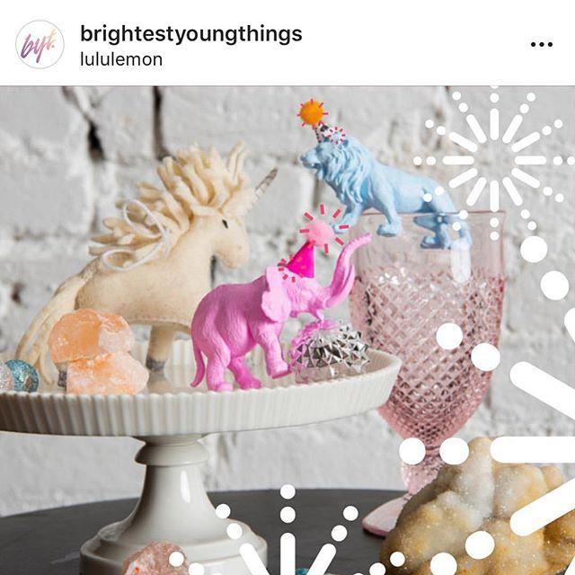 See that little elephant and little lion? I made those - Thanks @damasklove for inspiring me to live my best creative life - These little animals are now a business and they just got picked for the @brightestyoungthings gift guide thanks to the BEST team @steadfastsupplydc - Mama is HAPPY - if you don't already come visit me over @thepetitepartyanimal